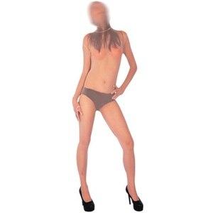 Image 5 - Artı boyutu örgü şeffaf Fishnet Bodysuit tek parça tayt fermuar kasık Bodystocking seksi sıcak erotik Porno iç çamaşırı tam kaplama
