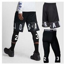Мужские баскетбольные наборы, спортивные быстросохнущие тренировочные шорты+ колготки для мужчин, футбольные упражнения, Пешие прогулки, бега, фитнеса, йоги, M-5XL