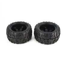 2Pcs 150mm Wheel Rim and Tires for 1/8 Monster Truck Traxxas HSP HPI E-MAXX Savage Flux Racing RC Ca