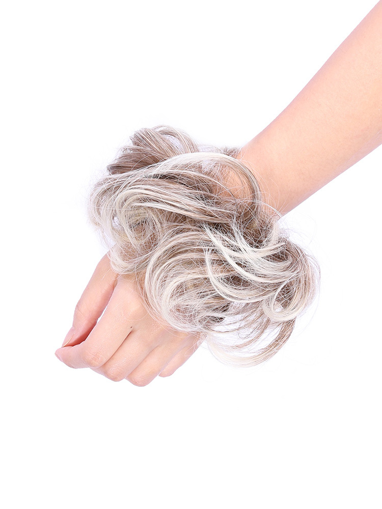 Delice Curly-Chignon Bun-Hairpieces Scrunchie-Wrap Synthetic Women's Rubber-Band