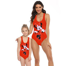 One-Piece Swimsuits Swimwear Bikini Beachwear Matching Girl Family Me And Cute Cartoon