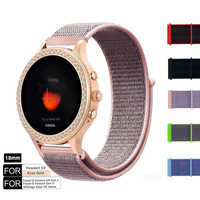 Pour les femmes fossiles Smartwatch 18mm libération rapide Nylon boucle bracelet de montre bracelet pour Ticwatch C2 RoseGold/fossile Q Venture Gen3/Gen 4