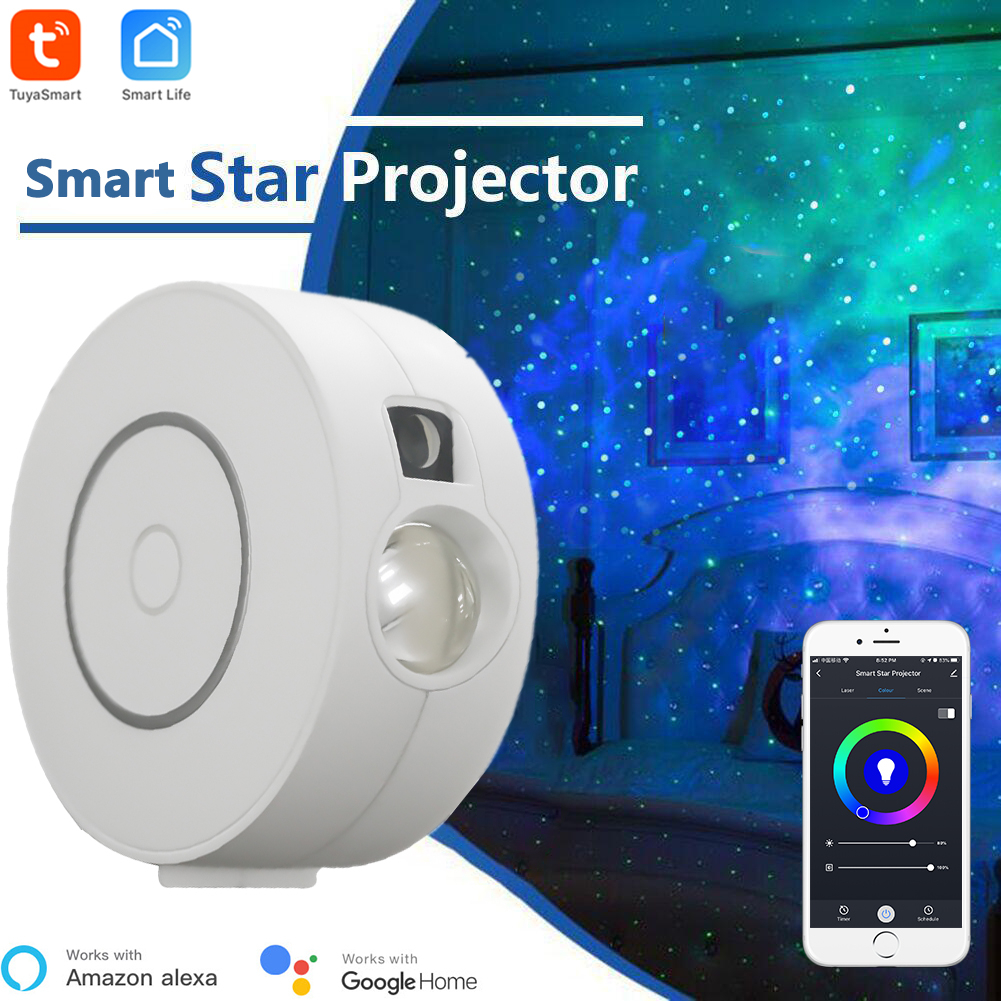Tuya Smart Star Projector WiFi Laser Starry Sky Projector Waving Night Light Led Colorful APP Wireless Control Alexa Compatible|Home Automation Modules| - AliExpress