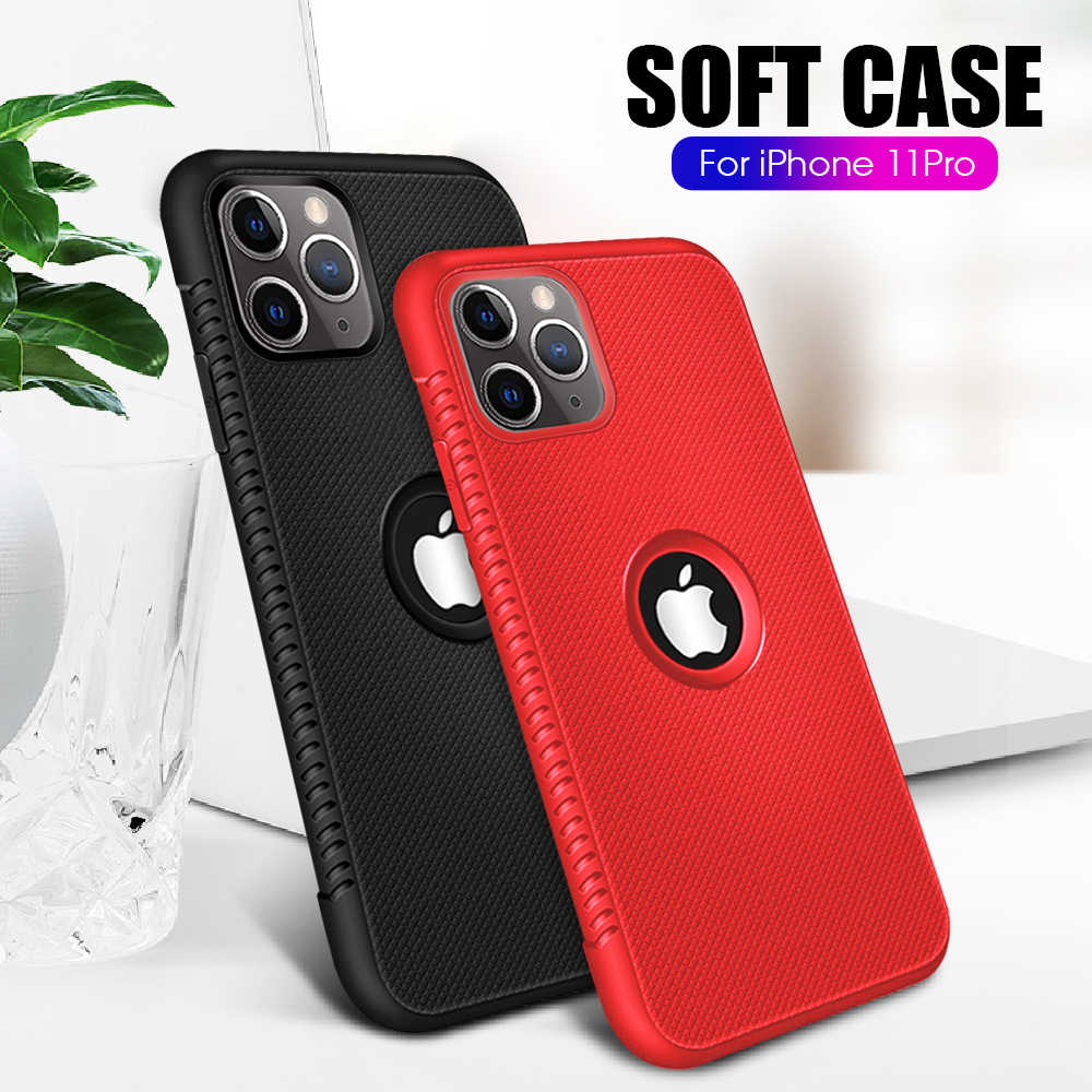 De carbono para iphone X XR 7 8 plus, 6S 6S suave funda trasera de silicona para móvil Coque para iphone 11 pro max XS Max 6 6S Plus 11 casos