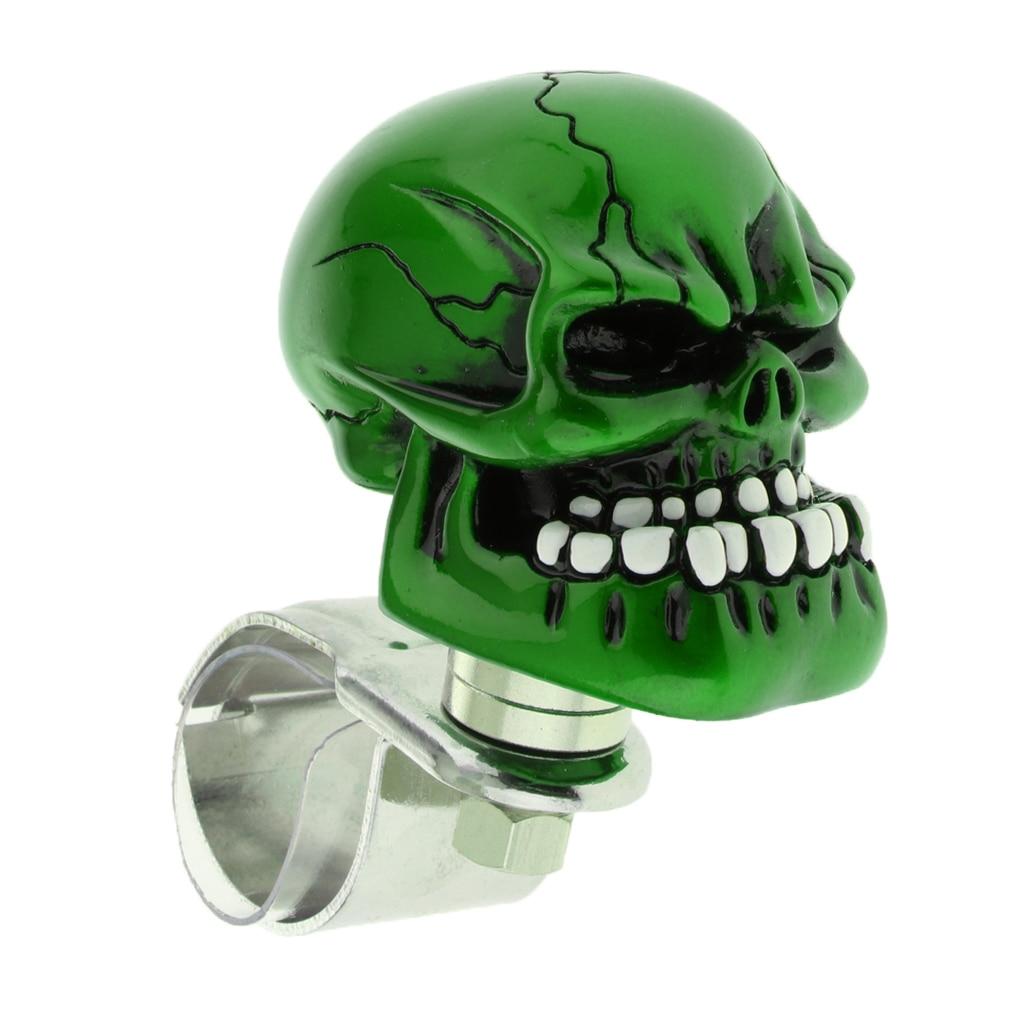 1PC Skull Head Car Steering Wheel Spinner Suicide Knob Handle Booster