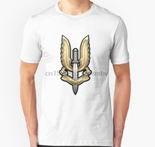Men tshirt Special Air Service SAS Badge over White Leather Unisex T Shirt women T-Shirt tees top(China)