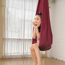 Kids Hanging Cuddle Wrap Swing Seat for Autism ADHD ADD Children Outdoor Nylon Elastic Therapy Aerial Yoga Hammock