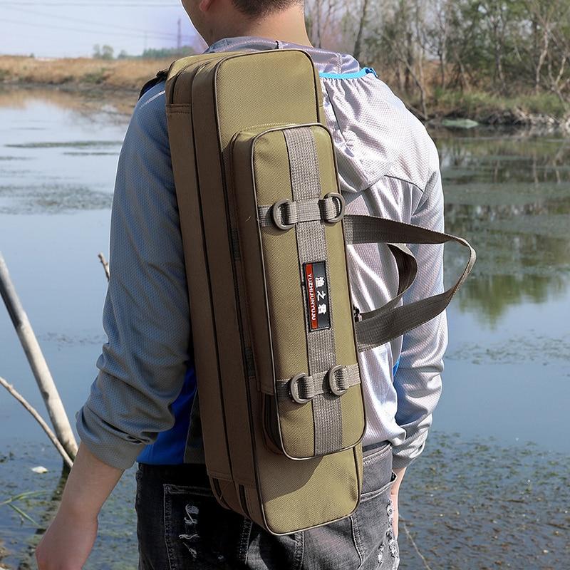 Steel Wire Edge Small Fishing Bag Multi Purpose Canvas Material Waterproof Durable Fishing Rod Bag Fishing Tackle Bag XA162G|Fishing Bags|   - AliExpress