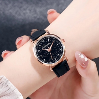 Casual Women Watches Romantic Starry Sky Wrist Watch Fashion Leather Band Ladies Clock Simple Gift Relogio Feminino Montre Femme shengke women s watches fashion leather wrist watch vintage ladies watch irregular clock mujer bayan kol saati montre feminino