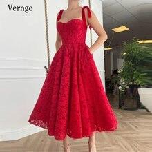 Verngo 2021 потрясающие красные длинные кружевные вечерние платья