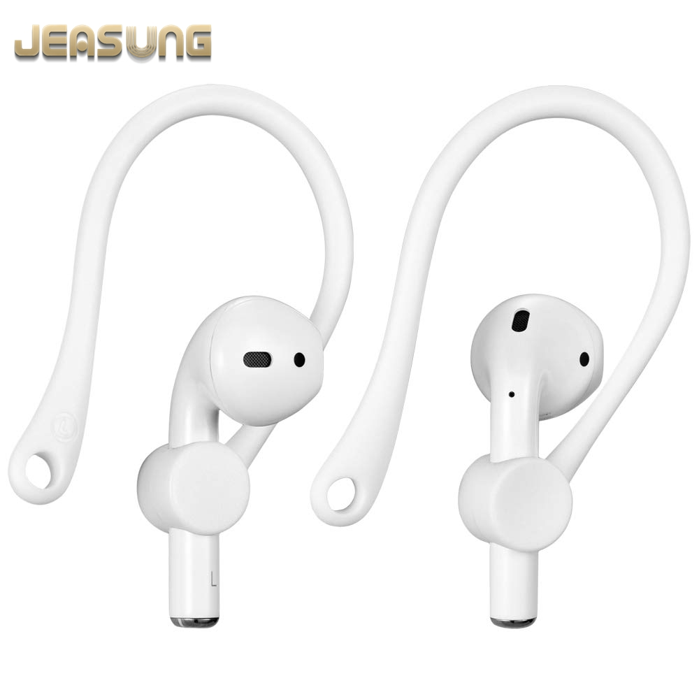 Silicone Ear Hooks for Apple AirPods Accessories Case 1&2 Wireless Earphone Protector Earhooks Sports Anti-lost Ear Hook