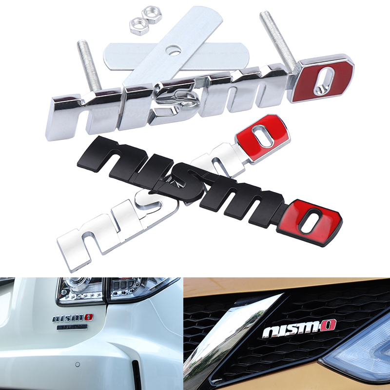 3D Metal NISMO Auto Stickers Front Grille Badge Emblem Car Styling For Nissan Tiida Teana Skyline Juke X-trail Almera Qashqai