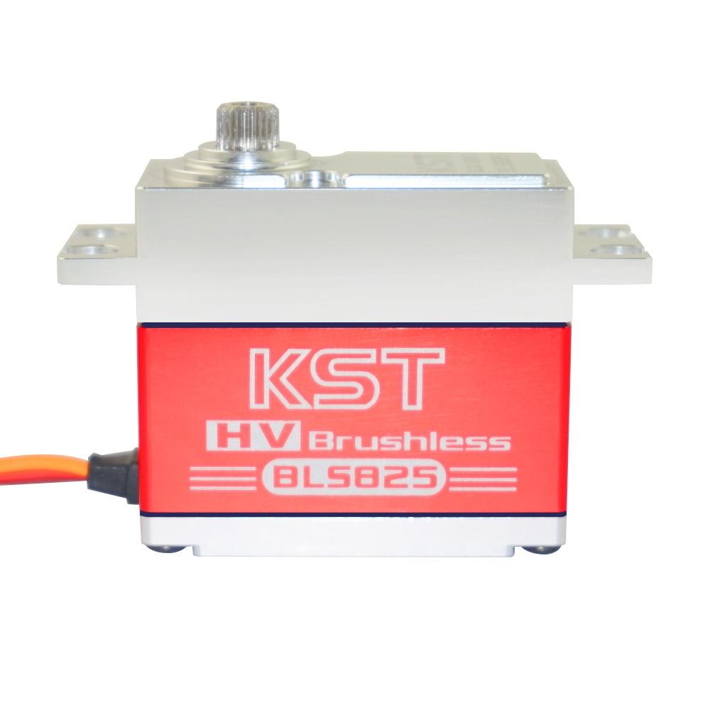 kst bls825 35kg 0 11sec brushless hv caixa de metal servo para helicoptero aviao rc carro