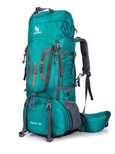 Hiking Backpacks Support Travel-Bag 80L Camping Superlight Nylon Big Aluminum-Alloy