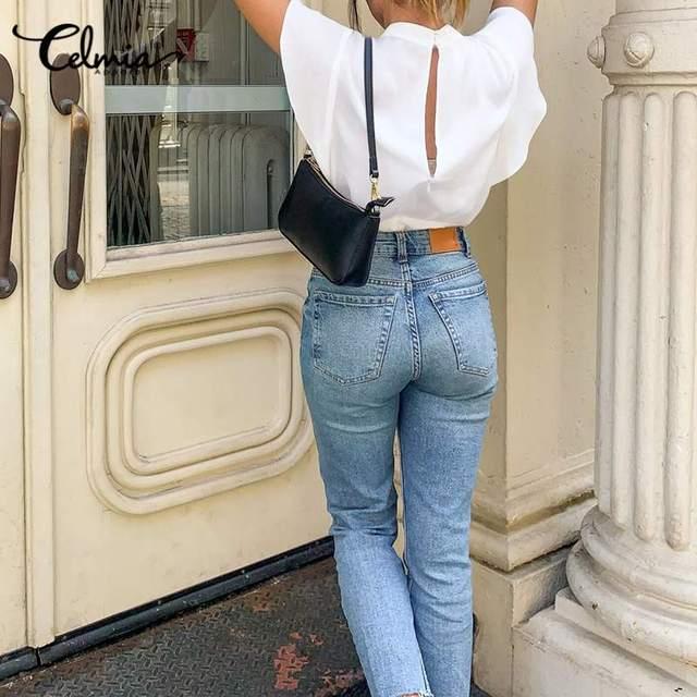 2020 Summer Celmia Women Solid Blouses Casual Short Ruffles Sleeve OL Tops Ladies Elegant Shirt Plus Size Back Zipper Blusas 5XL 2