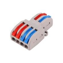 цены Nuevo Tipo  Mini conector de Cable rápido conector de Cable de Cableado Universal Push-in Conductor Terminal Block PCT-222