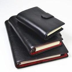 Yiwi Presell anneaux en cuir véritable NotebookA5 A6 A7 taille classeur Agenda organisateur vachette Journal Journal carnet de croquis planificateur poche