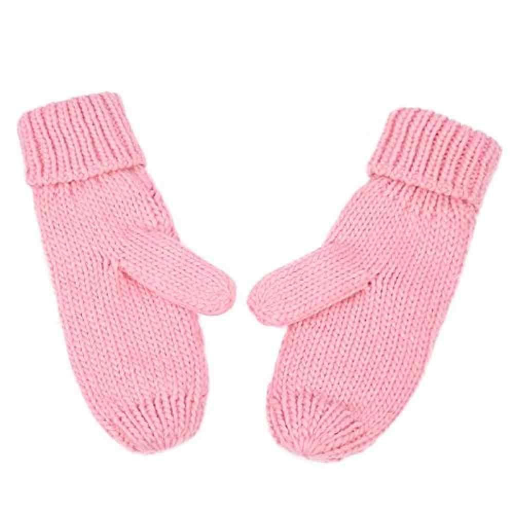 ผู้หญิงฤดูหนาวถุงมือถักโครเชต์ Twist ถักมืออุ่นถุงมือฤดูหนาว Camp ถุงมือป้องกัน