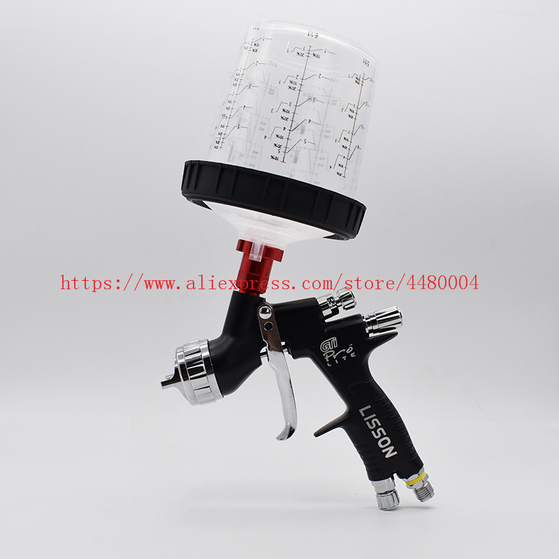 Pro Spraying For Gravity 600CC GTI 1 Spray Gun Gun Suitable Paint Kit With Spray Mixing Cup Automotive Air 3mm