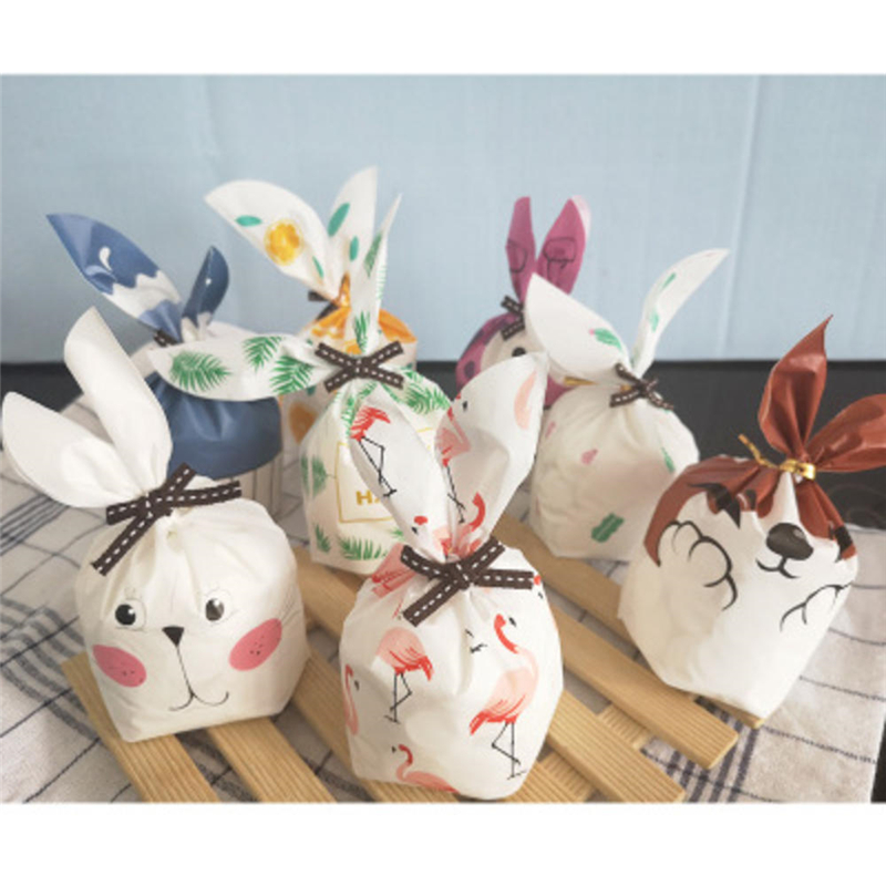Variety Cute Rabbit Ear Cookie Bags Gift Bags For Candy Biscuits Snack Baking Package Wedding Favors Gifts Easter Decoration