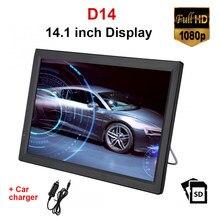 LEADSTAR-REPRODUCTOR digital portátil D14 para televisor, pantalla de 14,1 pulgadas, DVB-T2 ATSC, HDMI, Compatible con TV portátil, USB, tarjeta TF, cargador de coche