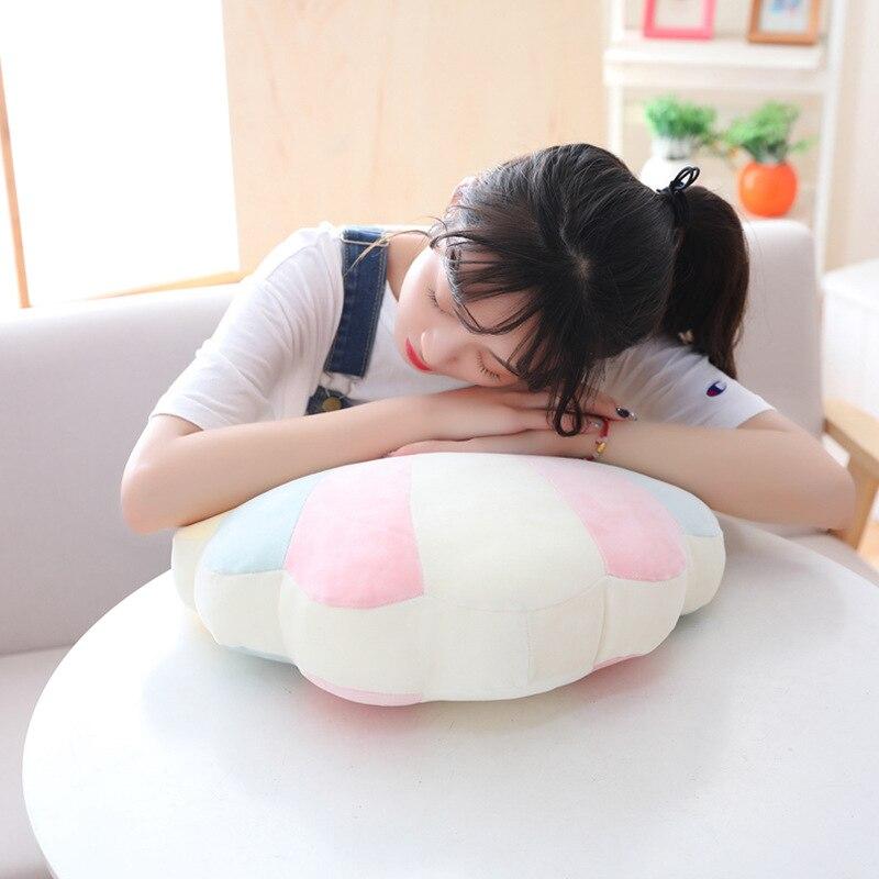 Rainbow brinquedos de pelúcia almofada shell bebê