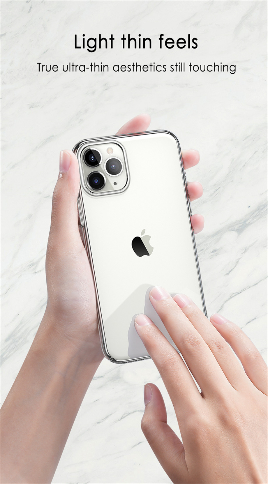 Ultra Thin Clear Sillicone Phone Case For iPhone