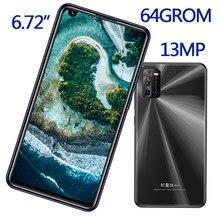 Téléphone portable Android débloqué, écran de 6.72 pouces, smartphone, 4 go de RAM, 64 go de ROM, 8MP + 13MP, caméra avant/arrière, bon marché