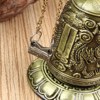 New Metal Bell Carved Dragon Buddhist Clock Good Luck Feng Shui Ornament Home Decoration Figurines 6