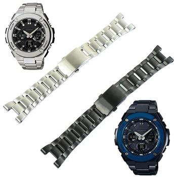 Stainless steel strap men's for Casio G-SHOCK watch strap GST-W300 400G B100 S310 sports waterproof stainless steel watch band casio g shock gst w110d 2a