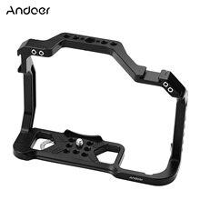 Andoer Aluminium Legierung Kamera Käfig für Canon EOS R5 R6 DSLR kamera w 1/4 Zoll Schraube Löcher Dual Kalt Schuh halterungen Kamera Video Rig