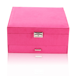 Image 2 - Queen Style 4 Color Luxury Practical Flannel Jewelry Box Fashion Jewelry Display  Earrings Necklace Pendant Nobel Jewelry Casket