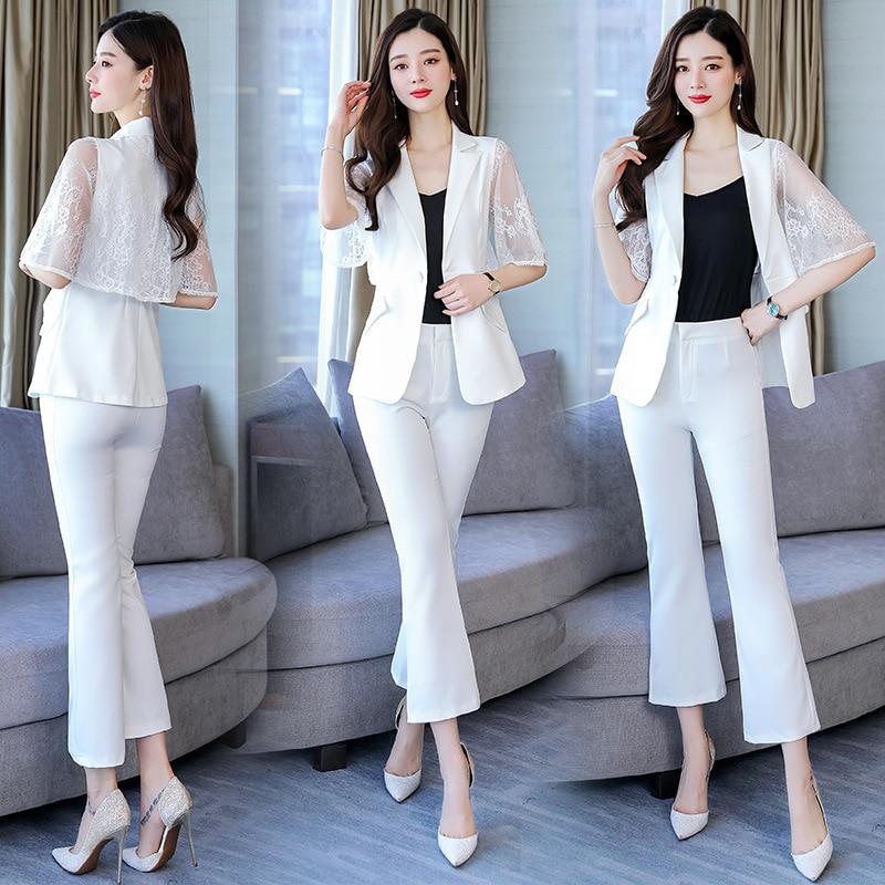 Solid Color 2019 Summer Crew Neck Fashion Comfortable Elegant Short Sleeve Half-sleeve Shirt Simple Versatile Set