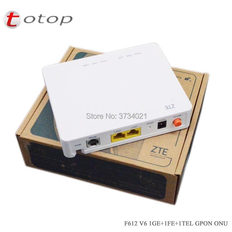 Orinigal ZTE F612 GPON ONU 1GE+1FE Ethernet+1voice Optical Network Terminal, V6 Version Firmware, 100% New FTTH Mode