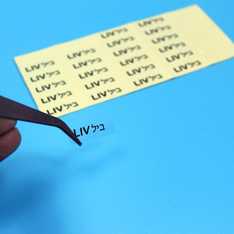 150pcs Clear font b PET b font Transparent Hebrew Name Stickers Waterproof Scrachfree Label Personalized