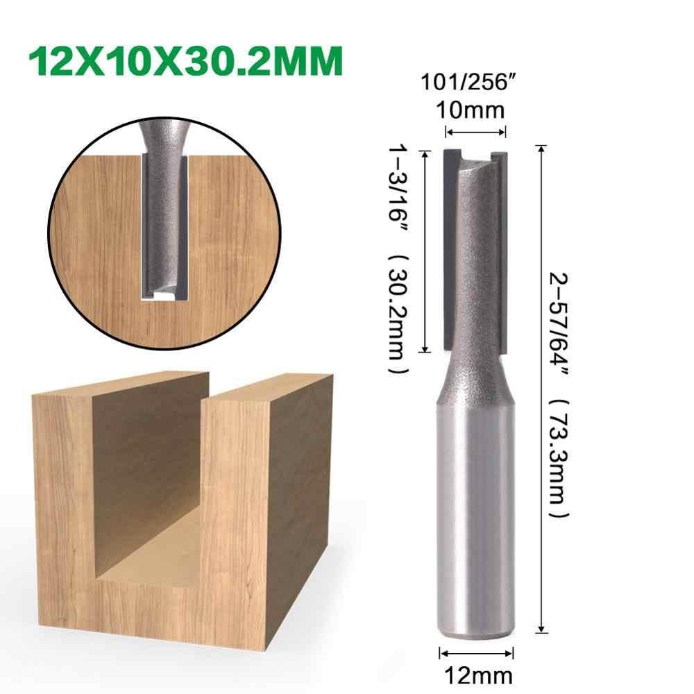 1 шт. 12 мм хвостовик 2 Флейта прямой бит Деревообрабатывающие инструменты фреза для дерева карбида вольфрама Концевая фреза
