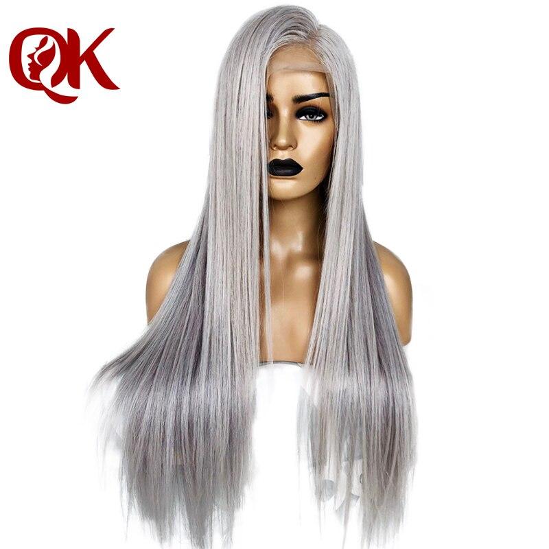 QueenKing Trasparenti capelli Parrucca Anteriore Del Merletto 13x4 180% Densità Biondo Cenere Parrucche Argento di Remy del Brasiliano dei capelli di Trasporto Libero durante la notte