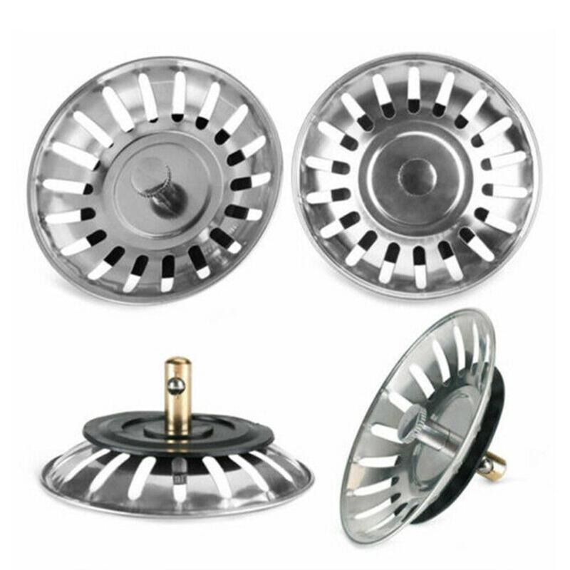 Stainless Steel Kitchen Sink Stopper Plug For Bath Drain Colander Drainer Water Basin Rubber Sink Strainer Cover Hole