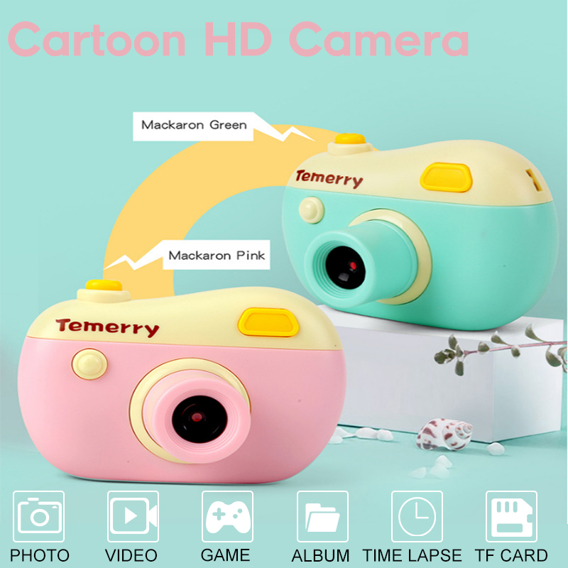 Kids Mini Camera Educational Toys For Children Baby Birthday Gift Digital Camera Video Camera 5 Games 12 Languages To Switch