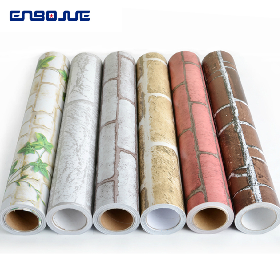 Pvc Self Adhesive Wallpaper Roll Bedroom Living Room Furniture Renovation Brick Sticker Dormitory Vintage Wall Papers Home Decor Wallpapers Aliexpress