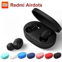Xiaomi Redmi Airdots TWS bezprzewodowy zestaw słuchawkowy bluetooth Stereo Bass BT 5.0 zestaw słuchawkowy z redukcją szumów z mikrofonem zestaw głośnomówiący