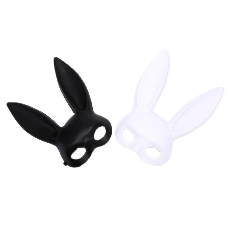 Women Ladies Festival Bunny Rabbit Ears Mask Cosplay Costume Masquerade Party UK