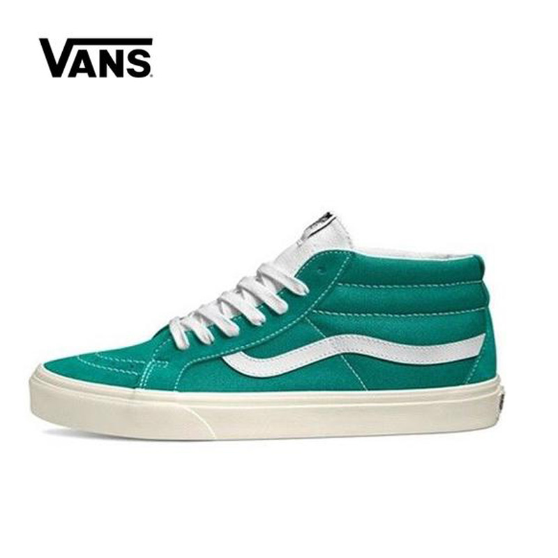 Original Vans Sk8-Mid Reissue Retro Sports Shoes Man And Women Unisex High-Mid Classic Sneakers Skateboarding Shoes VN0A3MV8U8L