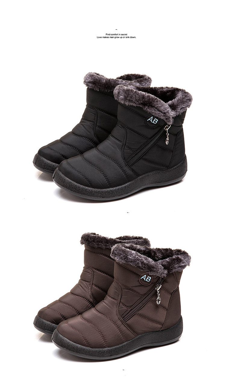 TIMETANG Women's ankle boots fur boots warm snow boots winter shoes for women waterproof padded boots winter boots womenfootwear