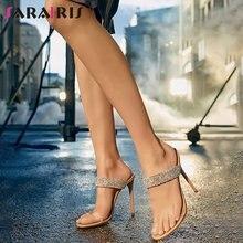 Sarairis/летние мюли на тонком высоком каблуке женские прозрачные