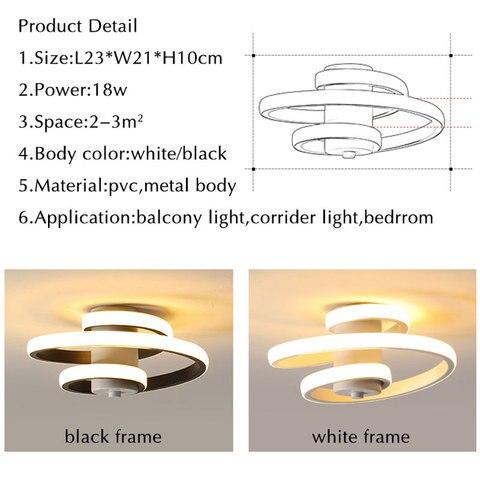 varanda luz estrela lampada preto white18w