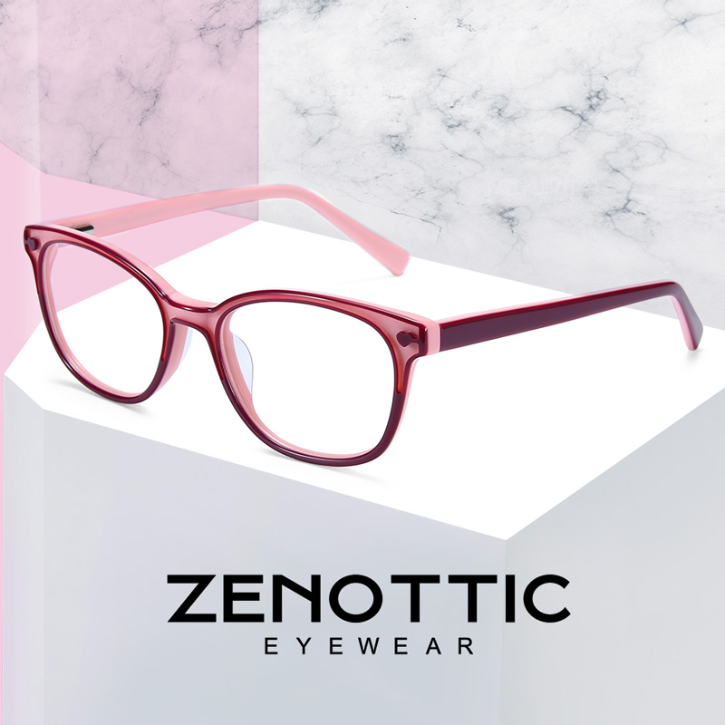 Image 1 - ZENOTTIC 2020 Acetate Children Glasses Frame Girls Boys Myopia Optical Spectacles Anti Blue Ray Lens Cute Protective EyeglassesWomens Eyewear Frames   -