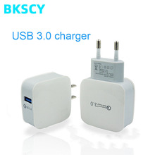 Quick Charge 3.0 EU Plug Mobile Phone Charger 15W Fast Wall USB Charger Adapter for Samsung Xiaomi USB Phone Chargers