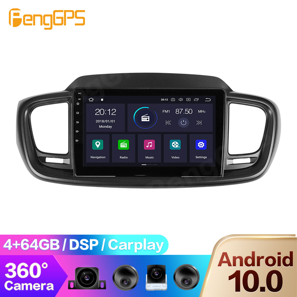 360 Camera for Kia Sorento 2015+ Android Radio Multimedia Headunit Car DVD Player Touchscreen GPS Navigation Mirror Link Carplay image