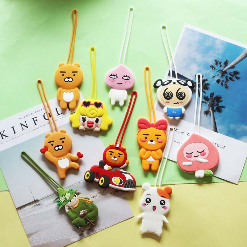 Cute Kakao Animals Luggage Travel Accessories Tag Silica Gel Suitcase ID Addres Holder Baggage Boarding Tag Portable Label